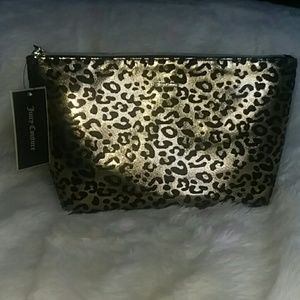 NWT Juicy Couture Leopard Print Cosmetic Bag Zip T